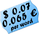 US$0.07 / 0.065 € per source word